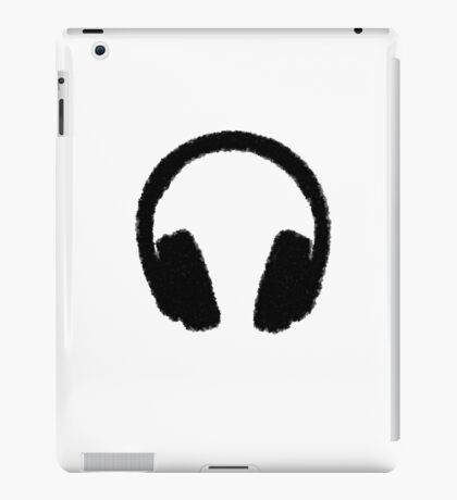 Fuzzy headphones iPad Case/Skin