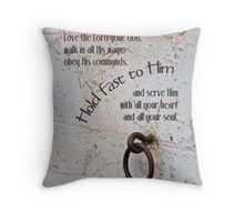 Hold Fast Throw Pillow