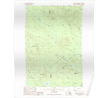 Maine USGS Historical Map Middle Brook Mtn 102746 1985 24000 Poster