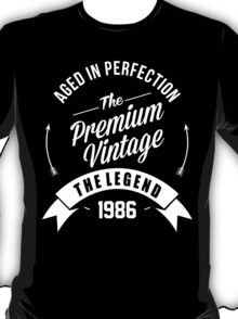 Vintage 1986 Aged To Perfection T-Shirt