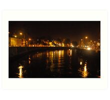 Night out, Cork Ireland Art Print