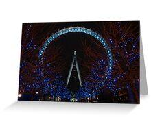 London eye at christmas. Greeting Card