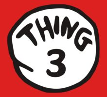 Thing 3 and thing 4 for couple and kids Kids Clothes