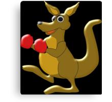Boxing Kangaroo Design Canvas Print