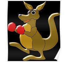Boxing Kangaroo Design Poster