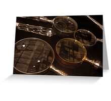 Magnifying Reflections Greeting Card