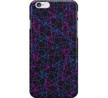 Abstract Geometric 3D Triangle Pattern in Blue / Pink - mini iPhone Case/Skin