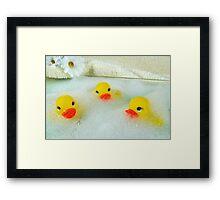 Bath Buddies Framed Print