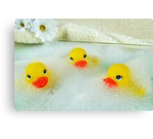 Bath Buddies Canvas Print