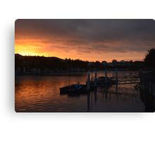 TWILIGHT ON THE CANAL Canvas Print
