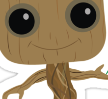 Groot with Clover Sticker