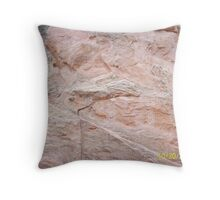 Garden of the Gods Names Carved in Stone Throw Pillow