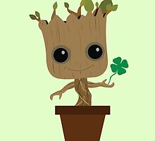 Groot with Clover (Kiss Me) by Ztw1217