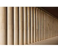 Stoa of Attalos marble colonnade and ceiling Photographic Print