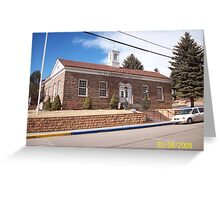 Manitou Springs Post Office Greeting Card