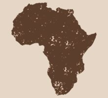 Map shape continent of AFRICA (distressed) by jazzydevil
