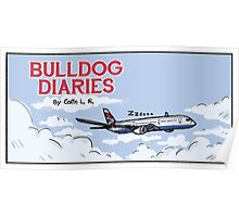 Bulldog Airplane Poster