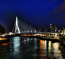 Erasmus Bridge at Night by Roddy Atkinson