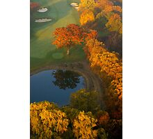 The 9th Tee in November..... Photographic Print