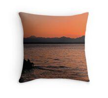 Sunset on Puget Sound near Seattle, Washington Throw Pillow