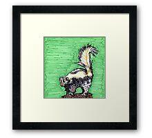 Skunk Framed Print