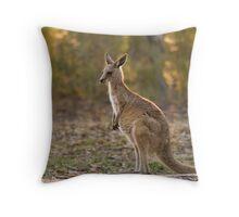 Eastern Grey Kangaroo Throw Pillow