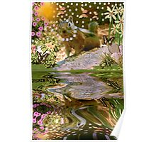 ~ SHAYLENE SQUIRREL ~ By The Pond  Poster