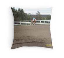 Pumbaa in Equitation Throw Pillow