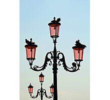 Venetian Street Lights Photographic Print
