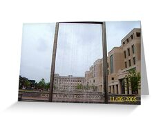 Water Fixture in Downtown Lexington Greeting Card