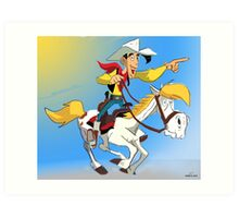 Lucky Luke Art Print