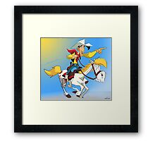 Lucky Luke Framed Print