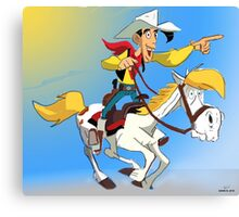 Lucky Luke Canvas Print