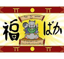 Super Fat Catfucius Photographic Print