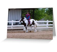 Gypsy Vanner Horse During the Parade of Breeds Greeting Card