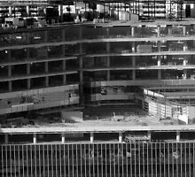 Docklands under construction, Melbourne by Roz McQuillan