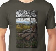 Bench with nature and scenery   landscape photography Unisex T-Shirt