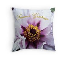 Pink Peony - Seasons Greetings Throw Pillow