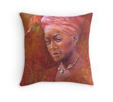 'Pink Turban' Throw Pillow