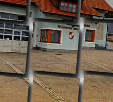 The firestation of Waldburg | architectural photography Sticker