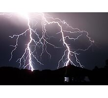 Lightning never ceases to amaze me Photographic Print