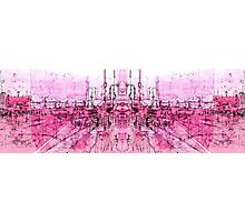 pink - huddersfield train stationxx Photographic Print