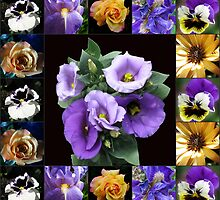 Floral Collage featuring Lisianthus by MidnightMelody