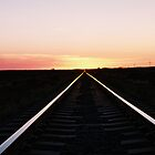 Tracks At Sunset by Felicity McLeod