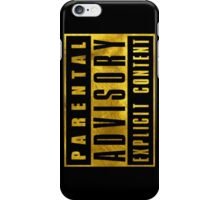 WARNING - GOLD EDITION iPhone Case/Skin