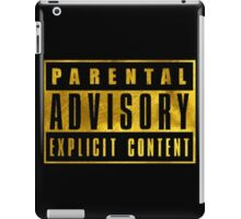 WARNING - GOLD EDITION iPad Case/Skin