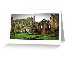 """""""imagine Henry the viii sitting in this great Hall"""" Greeting Card"""