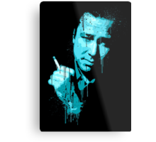 Bill Hicks (blue) Metal Print