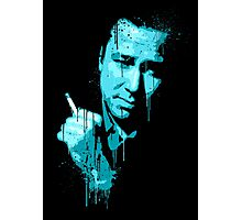 Bill Hicks (blue) Photographic Print
