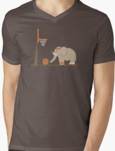 Elephants Can't Jump Mens V-Neck T-Shirt